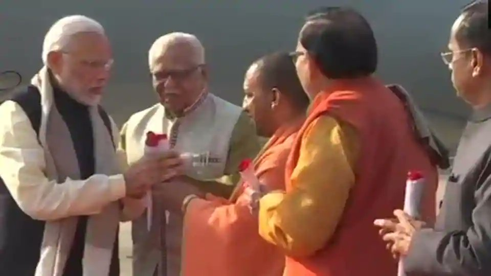 Prime Minister @narendramodi arrives in Lucknow. He'll attend events in Rae Bareli and Prayagraj later today.  Follow live updates here: https://t.co/WyzCh3MmGN