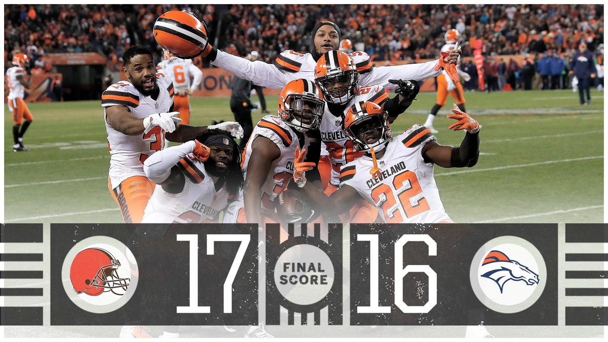 For the first time since 1990, the Browns beat the Broncos!