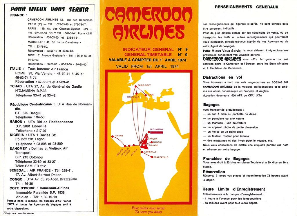 Dibussi Tande On Twitter Cameroon Airlines African Routes