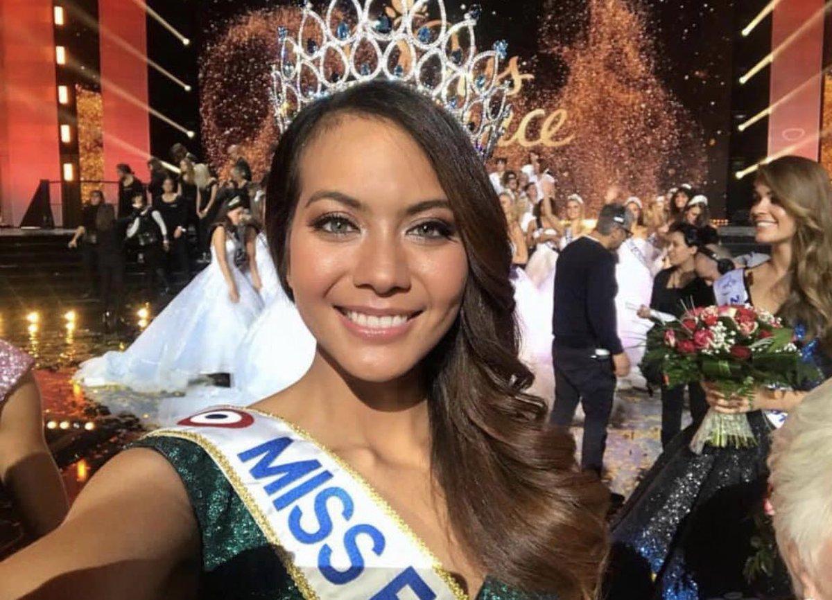 Une jolie miss France venue de #Tahiti avec une belle histoires remplie d'espoir pour toutes ces petites filles discriminées à l'école 😍 bravo à toi #AussiJolieQueSonIle