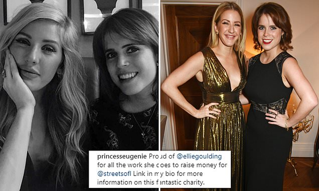 Princess Eugenie shares rare off-duty snap of her alongside pal Ellie Goulding as she praises the singers charity work dailym.ai/2CeXAYC