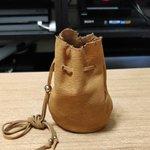 まるでRPG!皮袋に500円玉貯金でお金の価値が高まる気がする!