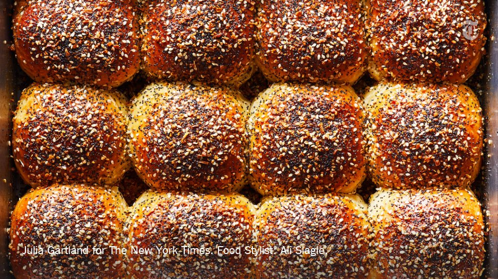 What's better than a warm Parker House roll? One with a salty, seedy everything-bagel topping. https://nyti.ms/2ExvA59