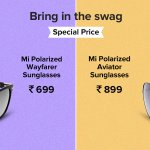 Xiaomi's #Mi branded Polarized #Aviator and #Wayfarer sunglasses for ₹899 and ₹699 on crowdfunding. #BookNow https://t.co/iayhE08Uck