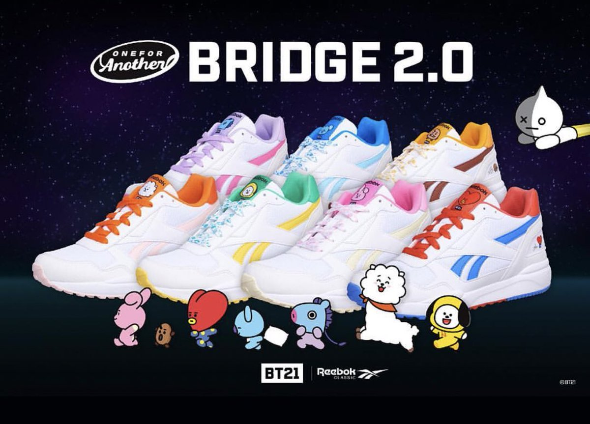 44bf88912ae Reebok x BT21 Complete 2LCS Reebok x BT21 Bridge 2.0 Still checking if we  can open pre-orders for these. Reebok BT21 INSTAPUMP FURY MANG  ReebokxBT21  ...