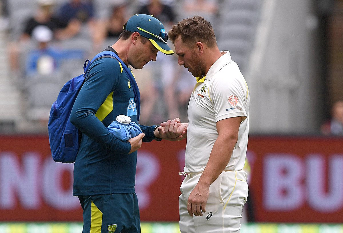 Australia vs India 2018-19: Aaron Finch Retires Hurt After Being Hit By Mohammed Shami 1