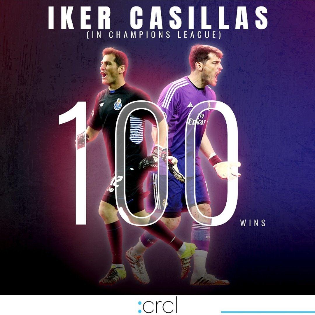 CENTURION 💯 @IkerCasillas @FCPorto   #casillas #porto #ucl #ChampionsLeague #Crcl #football #soccer #FootTheBall