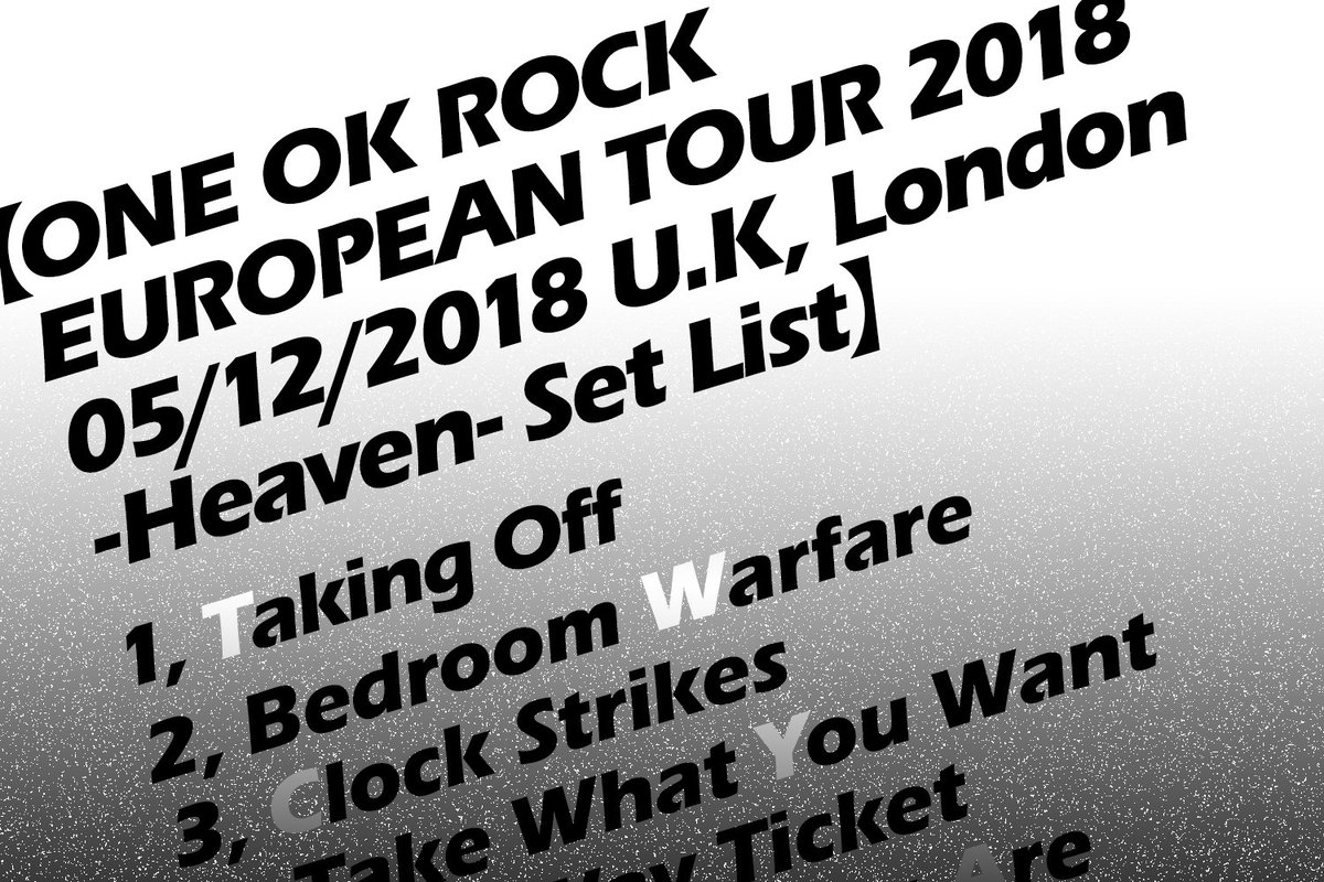 20181216【Stages&Music】 ONE OK ROCK PERFORMANCE IN LONDON Review Report!! *ONE OK ROCKが12/5㈬去年のロンドンのコンサートに引き続き、1年ぶりにこのロンドンに戻ってきた!!🎸 #EyeoftheStorm #HEAVEN #London #ONEOKROCK #EUROPEANTOUR2018 #RYOTA #TAKA #TOMOYA #TORU