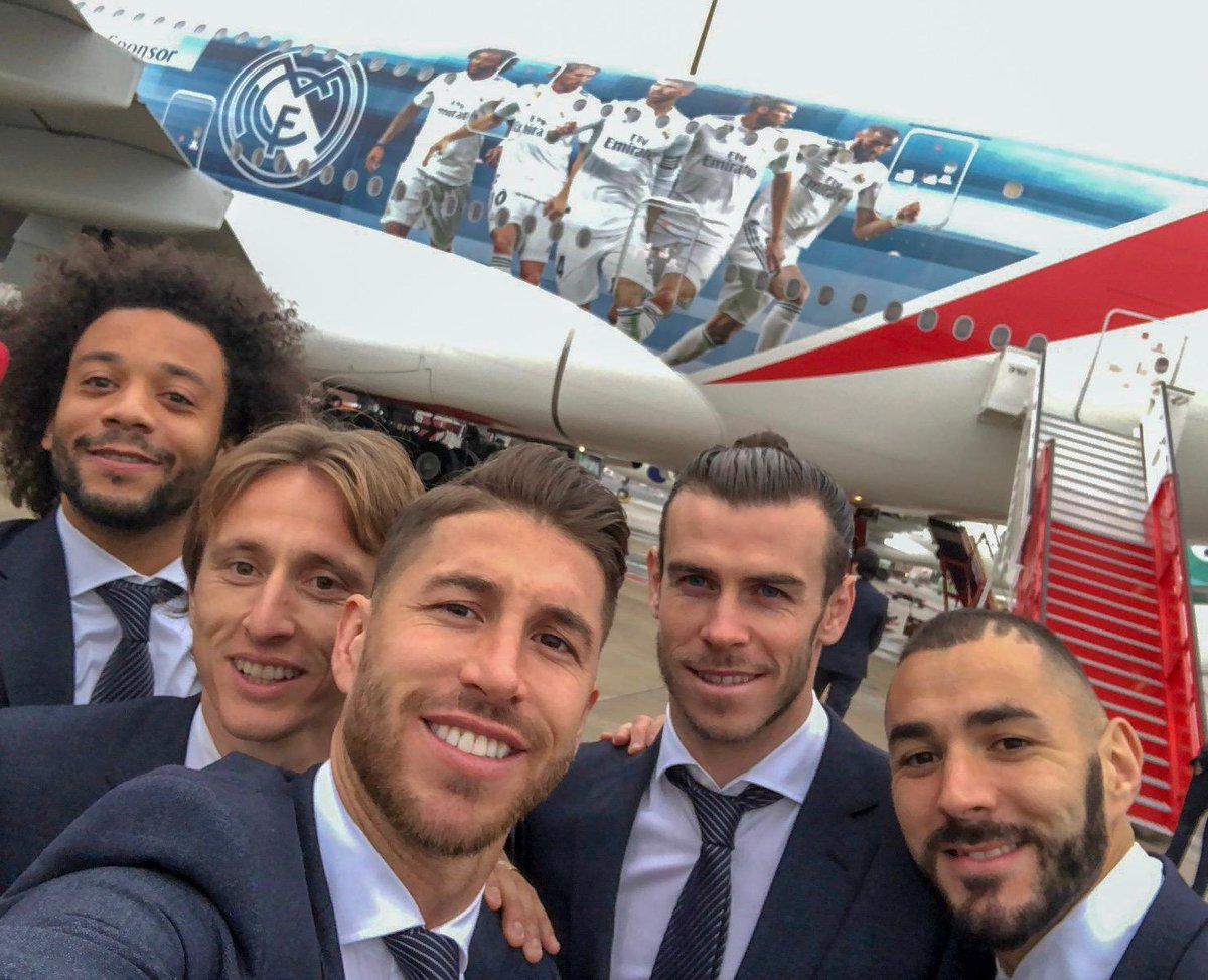 🛫🇦🇪 Were all set for our journey to the Club World Cup on the special @realmadrid @emirates A380! #RMCWC