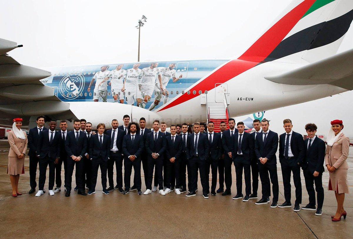 Off to Abu Dhabi for the Club World Cup! ✈ #ClubWC #HalaMadrid