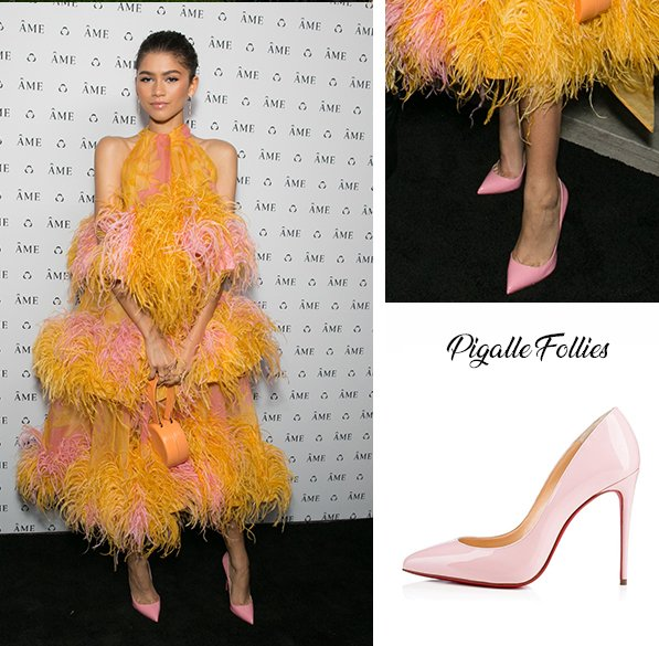 7a7bc5a0dc2 Zendaya in Christian Louboutin Pigalle Follies at the ÁME Jewelry Launch  Event