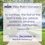 [CALENDAR] #DailyMotivation from Galatians 5:22. #HPU365