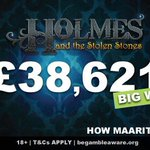 Image for the Tweet beginning: Maarit wins £38,621 in a