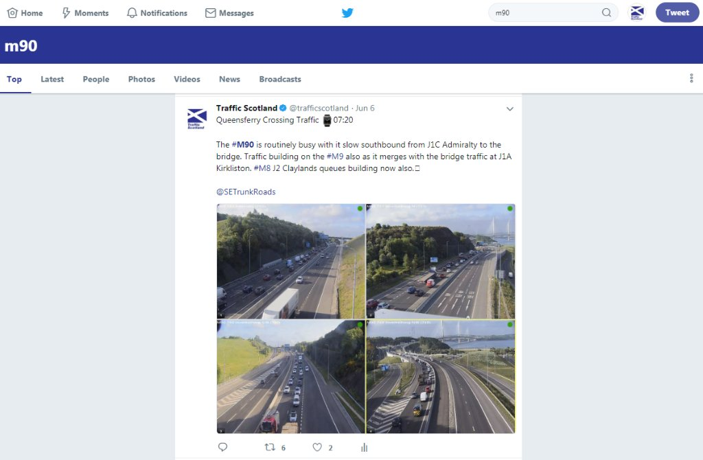 test Twitter Media - Travelling on the Trunk Road Network today❓  Search Twitter' at top right of the page e.g. #M90 or #A75 🔍  #PlanAhead https://t.co/M4uT2j21kc