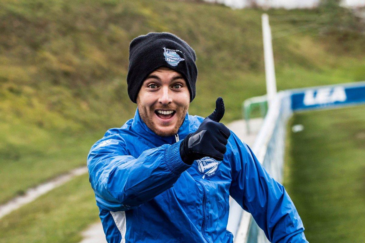 Ibai Gómez, durante un entrenamiento.