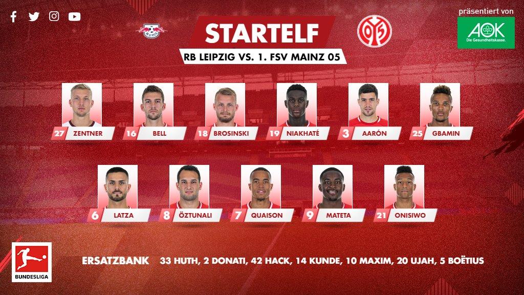 Mit dieser Aufstellung kämpft #Mainz05 am dritten Advent um drei Punkte in Leipzig! 🕯🕯🕯 #RBLM05 #Herbstfinale