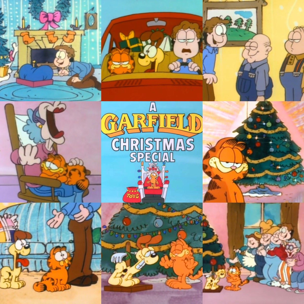 Garfield Christmas.80sthen80snow On Twitter 80s Christmas Cartoon Of The Day