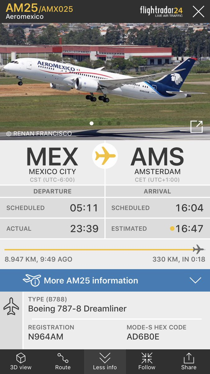How long is the flight to mexico city from london
