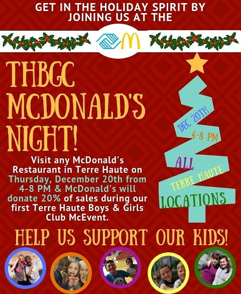 Terre Haute Boys Girls Club On Twitter Next Thursday 12 20