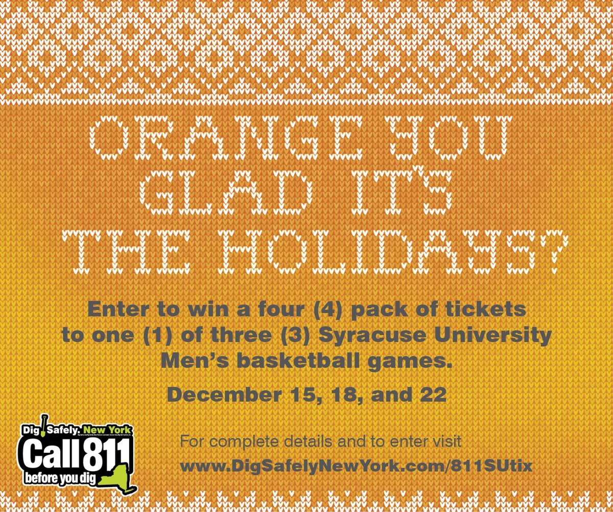 Enter to win a pack of four (4) tickets to a Syracuse Orange (@Cuse_MBB) Men's basketball game!…