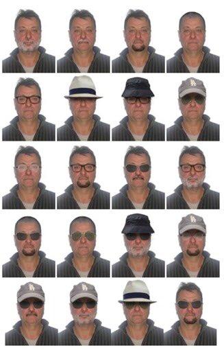 PF elaborou retratos com as principais  possibilidades de disfarce que poderiam ser utilizadas pelo italiano Cesare Battisti, que tem mandado de prisão expedido pelo STF.
