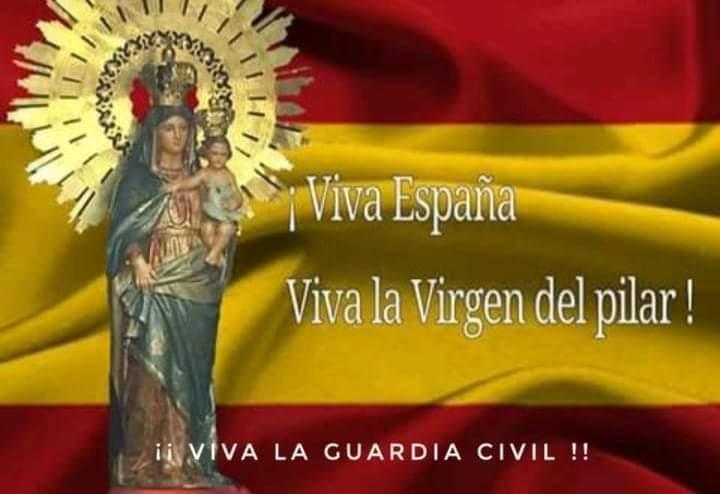 """Más q Guardia Civil en Twitter: """"¡¡ VIVA ESPAÑA !! ¡¡ VIVA EL REY !! ¡¡  VIVA LA VIRGEN DEL PILAR!! ¡¡ VIVA LA GUARDIA CIVIL !! #Zaragoza  #PorEspañameatrevo #VirgendelPilar #Masqueguardiacivil #Guardiacivil #"""