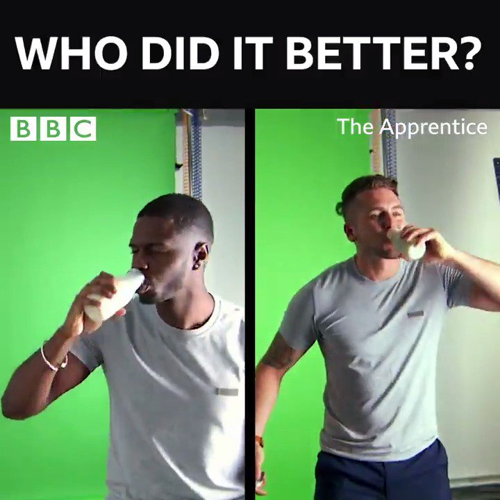 Whose nut-milk game brings all the punters to the yard? ❤️for Tom, RT for Kayode... 🥜🥛 #TheApprentice #TheApprenticeFinal