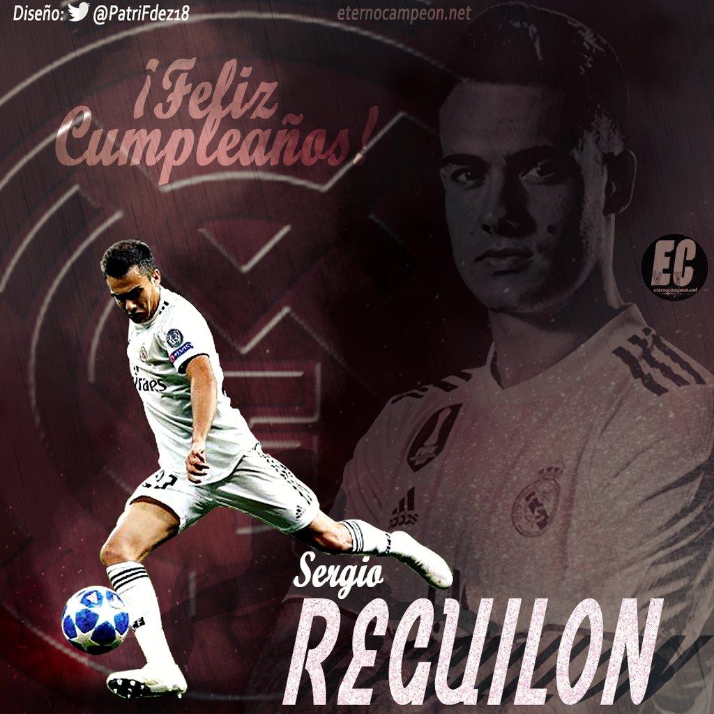 ¡Feliz cumpleaños @sergio_regui!  Diseño   @PatriFdez18