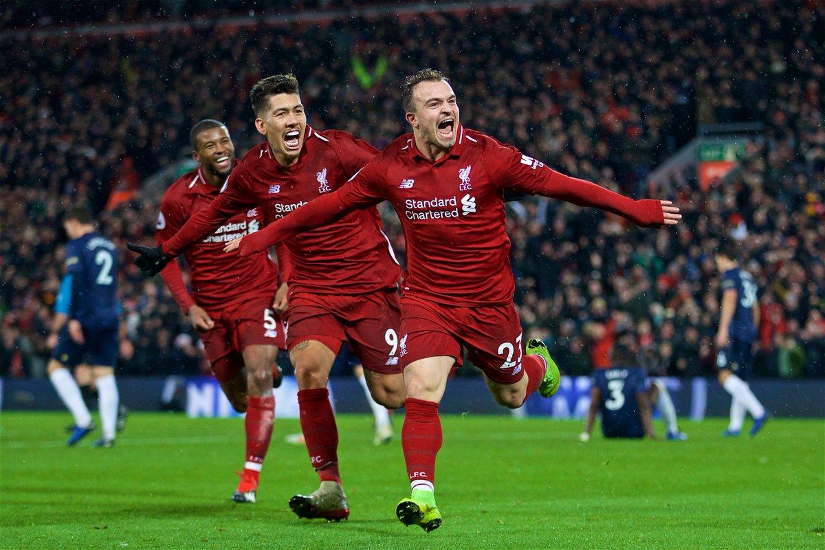 Xherdan Shaqiri double sinks Man Utd as Liverpool tops EPL