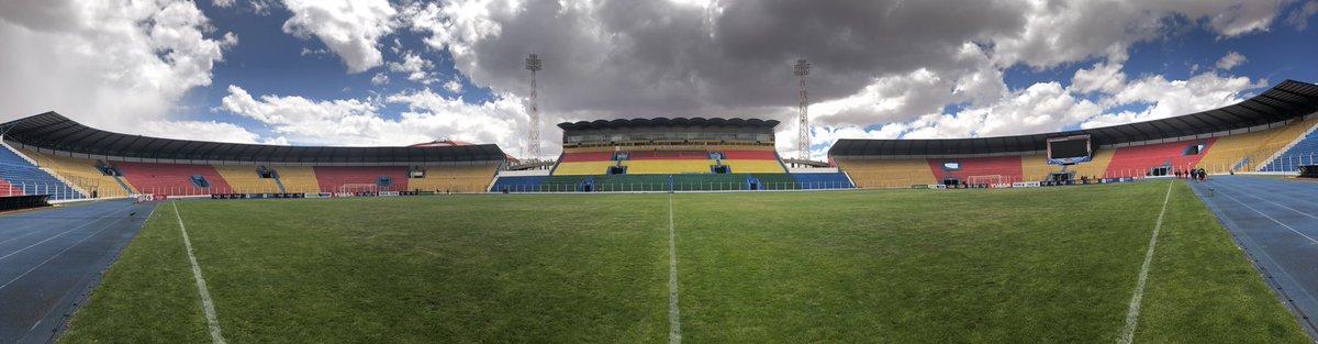 Esta es la postal que nos deja el estadio Victor Agustin Ugarte a horas de comenzar el partido de hoy.  #VamosTigre ⚽🇧🇴🐅⚽