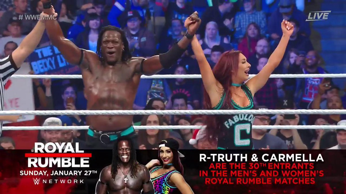 WWE TLC: Jinder Mahal & Alicia Fox Vs. R-Truth & Carmella (Mixed Match Challenge Season 2 Finals)