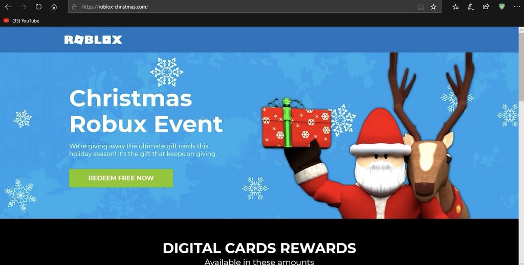Roblox Christmas Gift 2018 Official Craft On Twitter Just Want To Clarify There S Been A Recent Scam Going Around Called Roblox Christmas This Site Not Only Tracks Your Logins Information It Also Grabs Your Ip Make