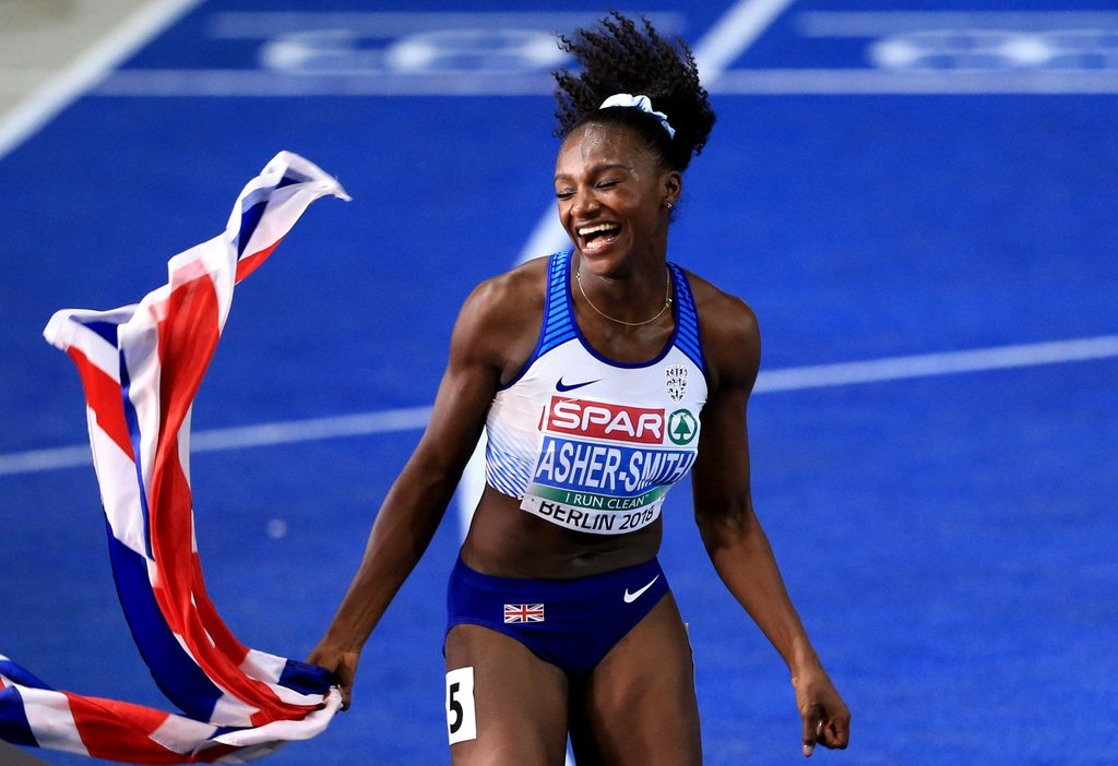 👇 @BBCSPOTY nominee @dinaashersmith in 2018  🥇🥉 - @GC2018  🥇🥇🥇 & 2️⃣ British Records -   📞 @Euro_Champs09015228202 / 62202 🖥     Vhttps://t.co/I6mMRKJ6umote soon