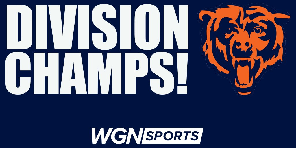 The Chicago Bears are your NFC North Division Champions.