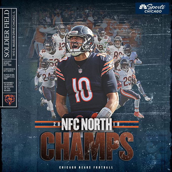 The @ChicagoBears are officially KINGS OF THE NFC NORTH 👑 Photo