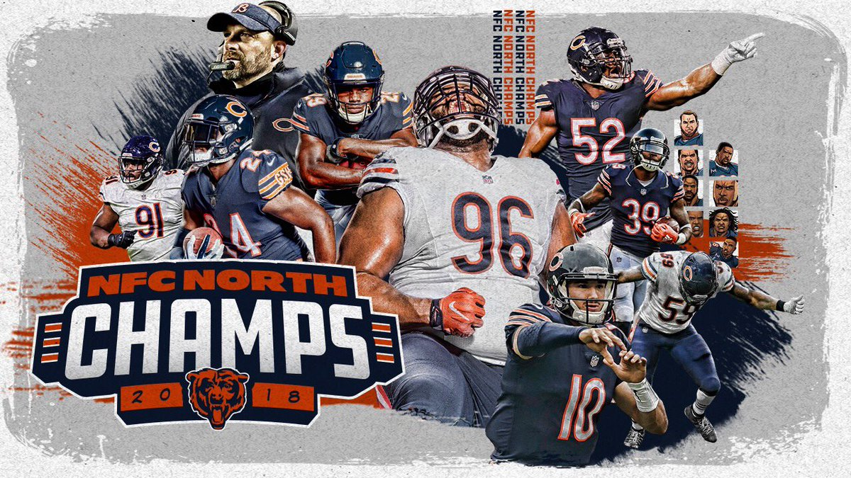 #DaBears are NFC NORTH CHAMPS! 🐻⬇️!