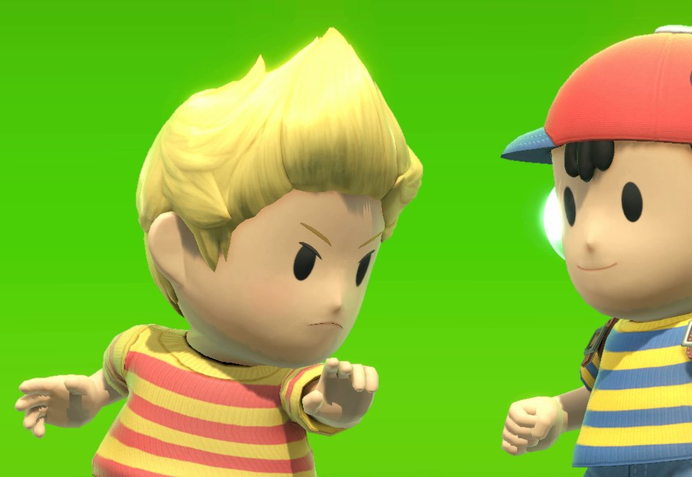 Hey Ness, you see that guy over there? His down smash has super armor, breaks shields, and kills us at 60%.  <br>http://pic.twitter.com/npDxiJsRyA