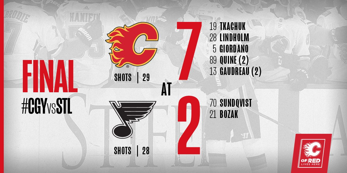 YOU CAN PUT IT IN THE WIN COLUMN! YEAH BABY!  #CGYvsSTL | #Flames