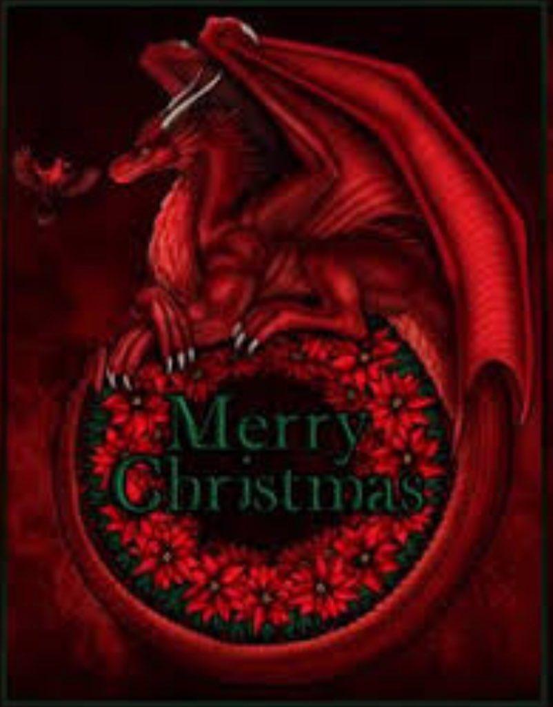 Christmas Dragon.Diana Rowland On Twitter Our Dragon Holiday Display Got