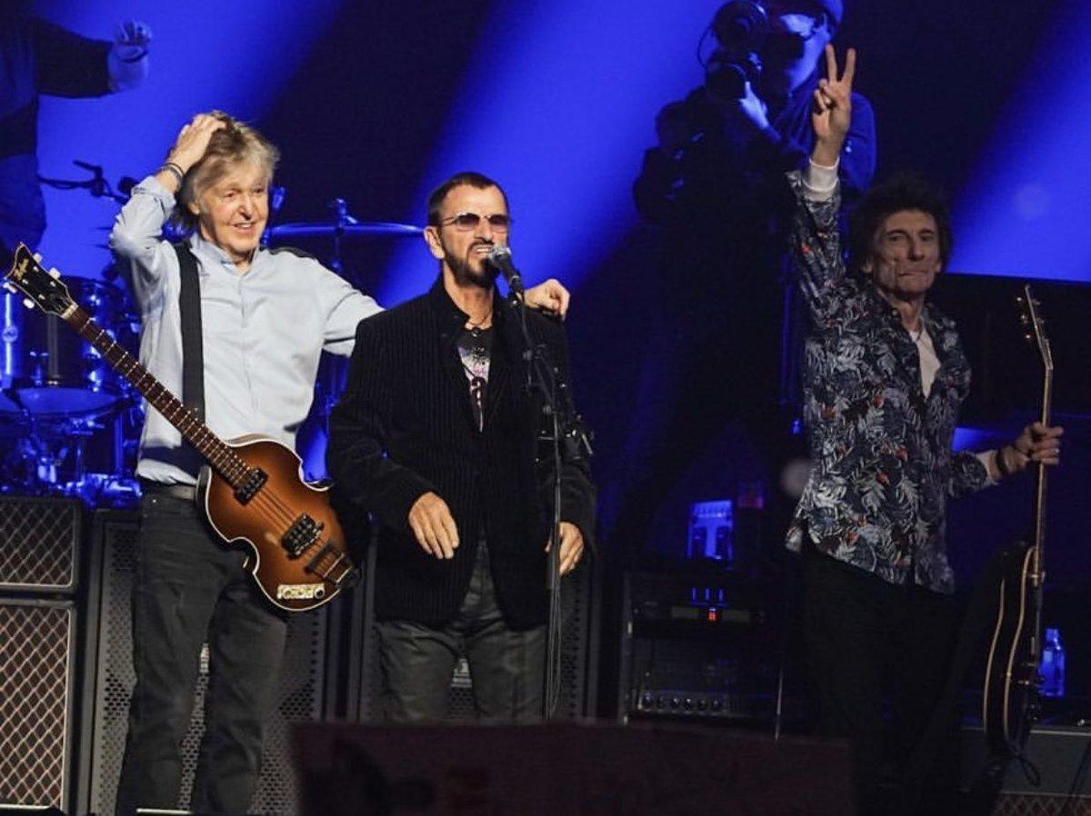The Beatles Polska: Ringo Starr i Ronnie Wood razem na scenie z Paulem McCartneyem na koncercie w Londynie