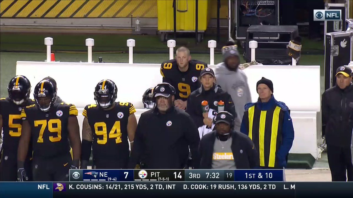 Chris Boswell doesn't have very many friends on the sideline right now