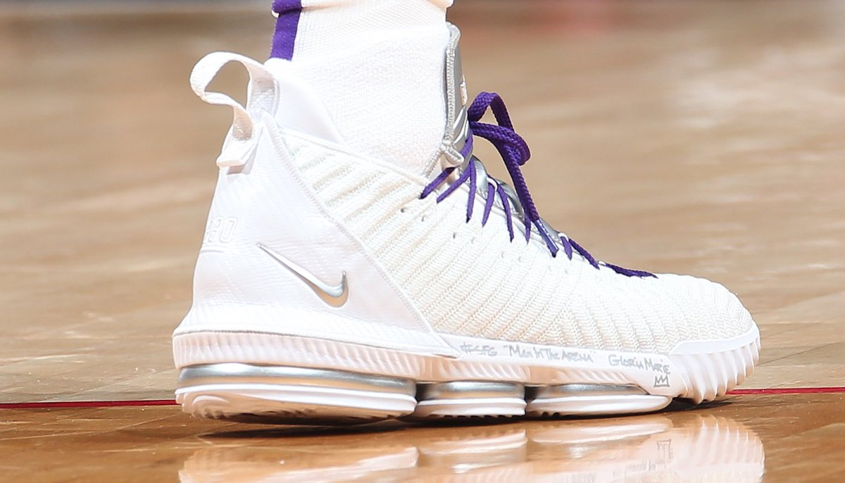203822344a8e solewatch kingjames going with these purple laced nike lebron 16s in dc ned  dishman