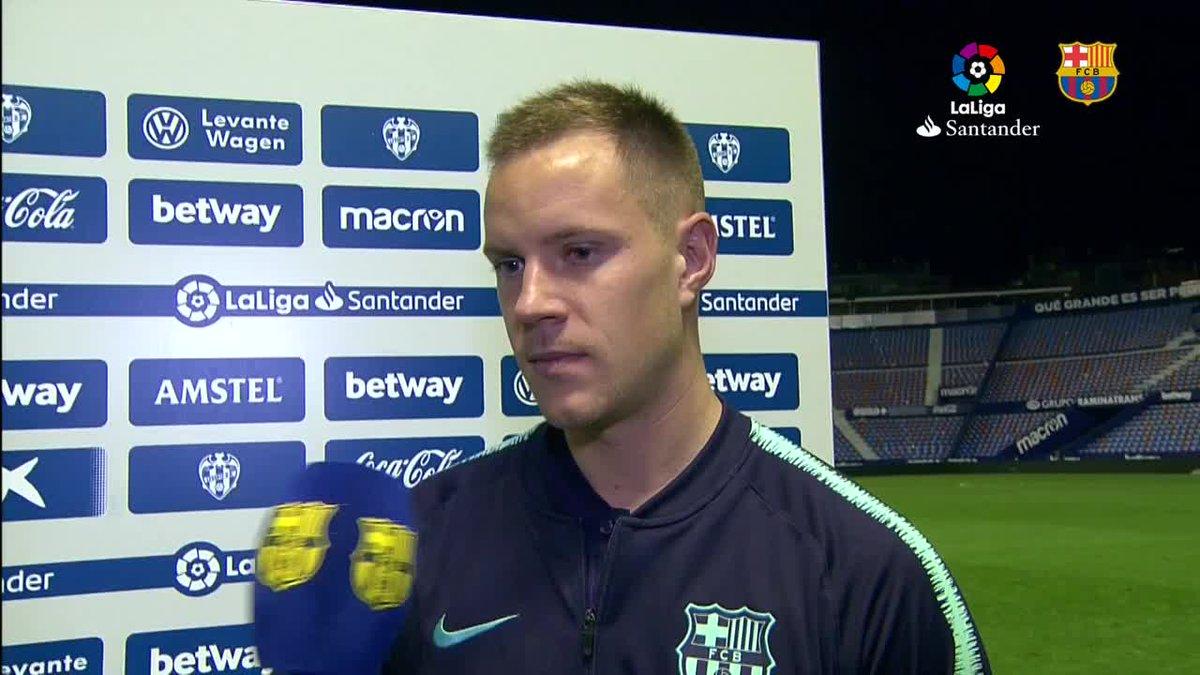 🔊 @mterstegen1, @3gerardpique and Ernesto Valverde #LevanteBarça 🔵🔴 #ForçaBarça