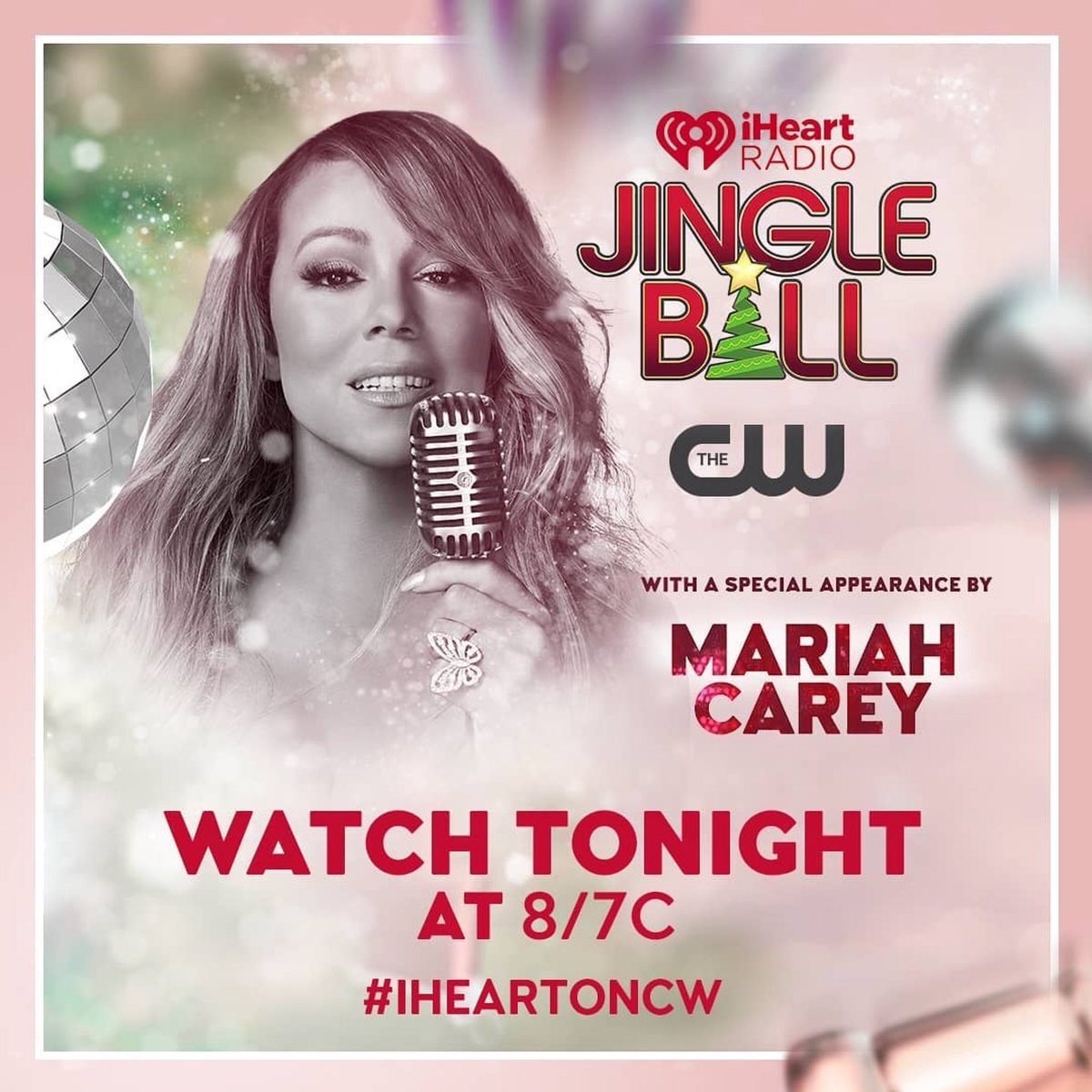 Watch @MariahCarey on the 2018 @iHeartRadio Jingle Ball tonight at 8/7c only on @theCW #iHeartOnCW