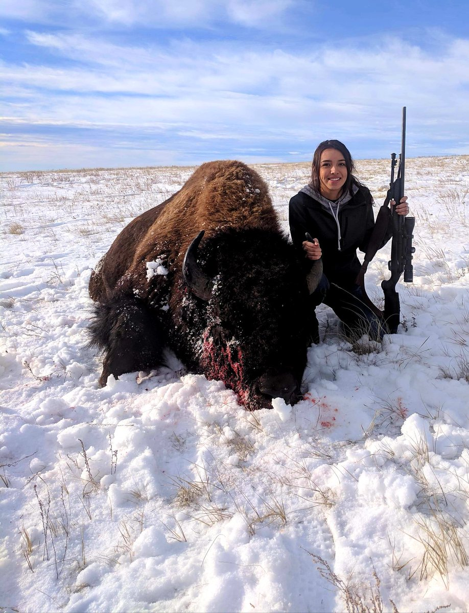 My daughter and her buffalo kill today.....proud dad status