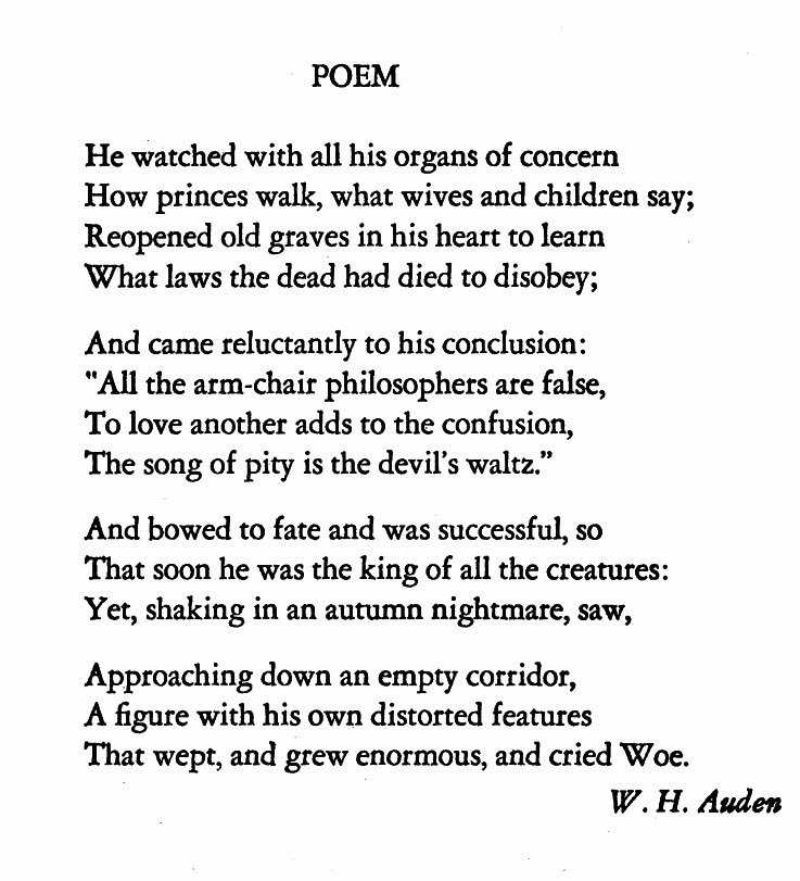 Amy King On Twitter Is This Audens Prescient Poem About