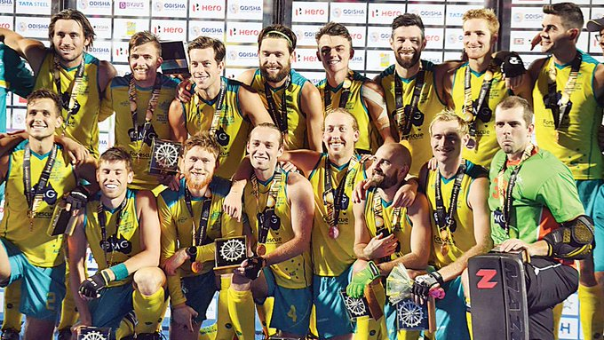 #HockeyWorldCup: Aussies take bronze with 8-1 defeat of England reports @RutvickMehta Photo
