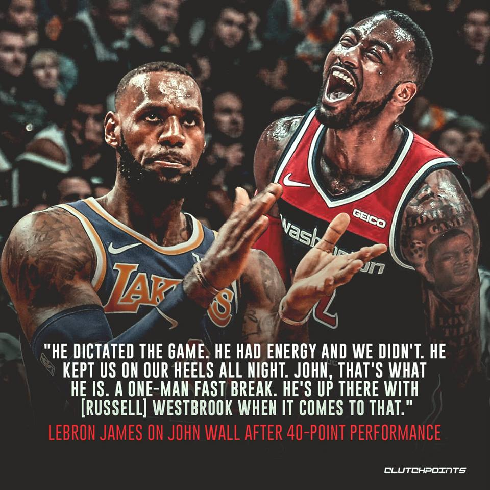 LeBron James has some high praise for John Wall   #Wizards<br>http://pic.twitter.com/WeVm6B8whx
