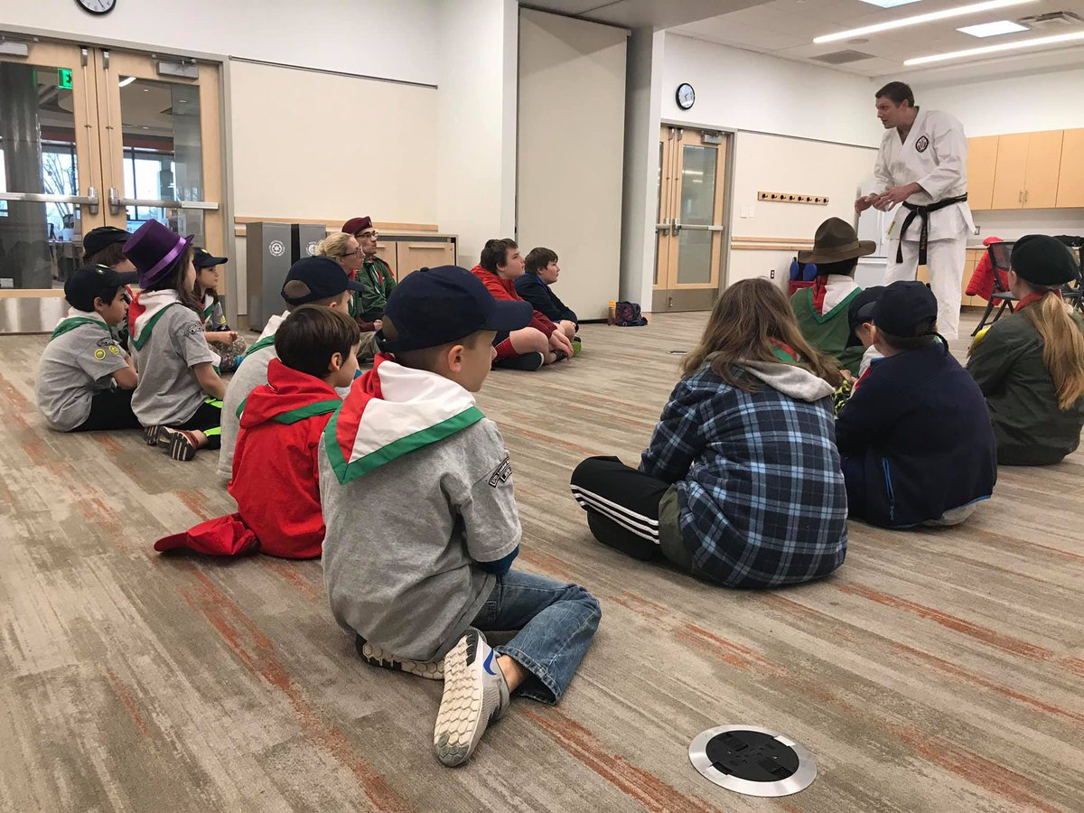 Inclusion, Repect and the Importance of being prepared with Sensei Winkler today at Sterling Library @37redfoxes @BPSA_US @NOVAKarate #scoutingforall #nonviolence #beprepared