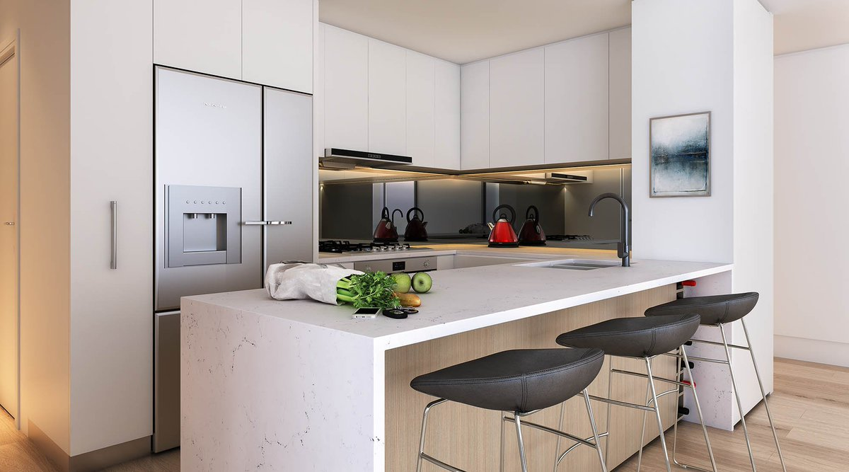 Rhodes Central Stage 3 Kitchens deliver atmospheric dining with elegant, low-maintenance finishes blending effortlessly into the living areas.  Visit our Display Suite and learn more at  https://t.co/MkePk2ttvF  #interiordesign #newresidential #luxuryhomes #apartments